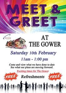 Meet & Greet at The Gower - Sat 10th Feb