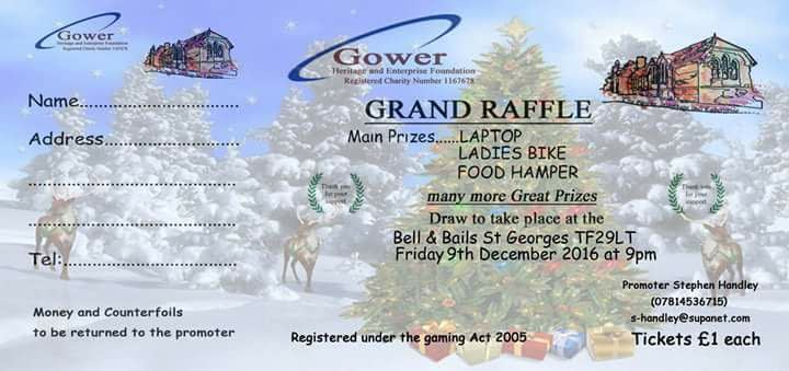 Gower Heritage and Enterprise Foundation Grand Raffle 2016