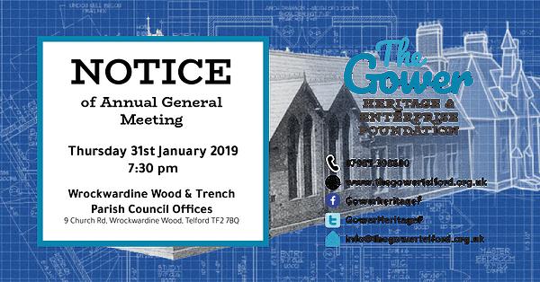 Gower Telford AGM Thursday 31st January 2019